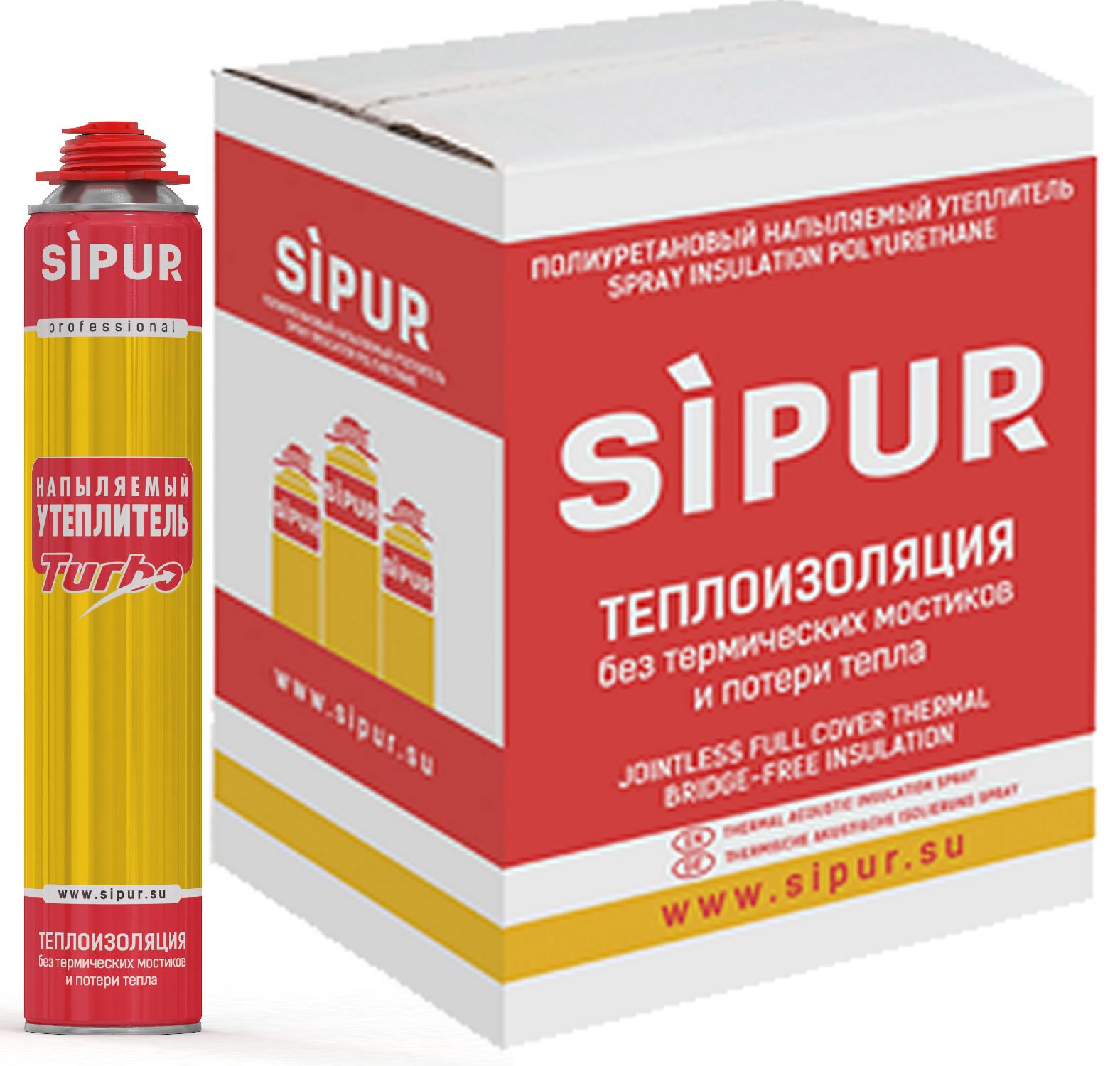 Sipur - напыляемый утеплитель (коробка 12 шт)